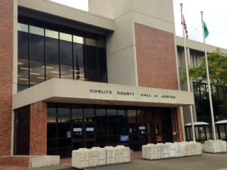 The Cowlitz County Hall of Justice in Kelso.