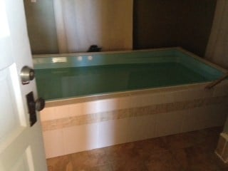 The open float tank at The Float Shoppe.