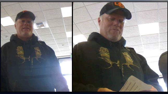 Surveillance images from robbery at First Tech Federal Credit Union in Wilsonville on Sept. 15 from the Clackamas County Sheriff's Office