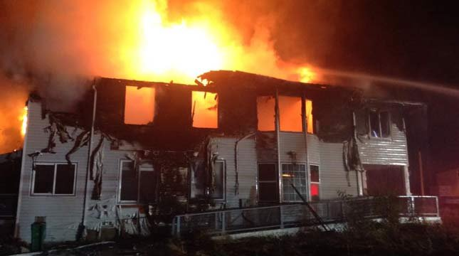 Suspected arson fire on 9th Avenue in Forest Grove (Photo: Forest Grove Fire & Rescue)