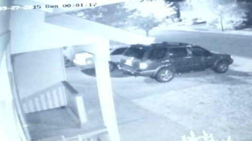 A neighbor's surveillance camera captured a bright flash when the explosion happened