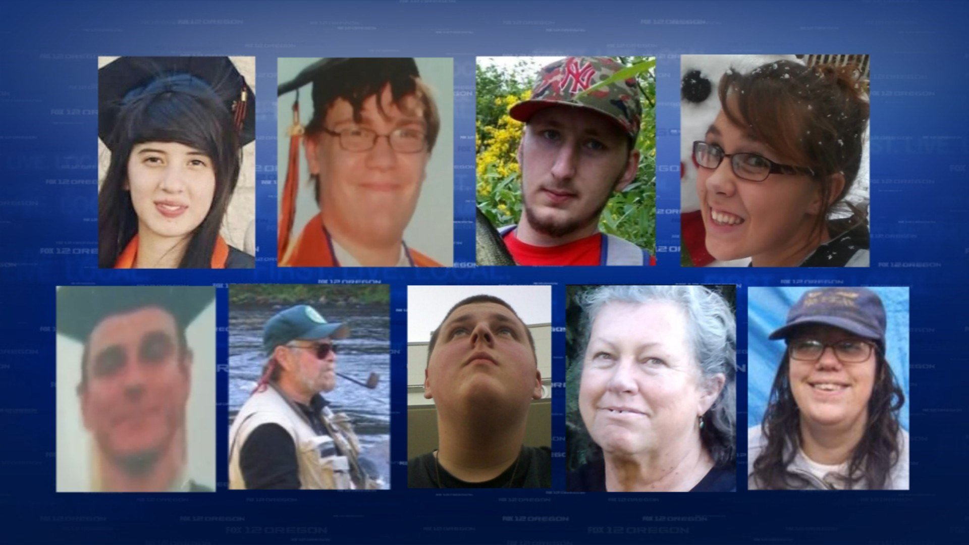 (Top row from left to right) Lucero Alcaraz, Lucas Eibel, Rebecka Carnes and Treven Anspach. (Bottom row from left to right) Jason Johnson, Lawrence Levine, Quinn Cooper, Kim Dietz and Sarena Moore.