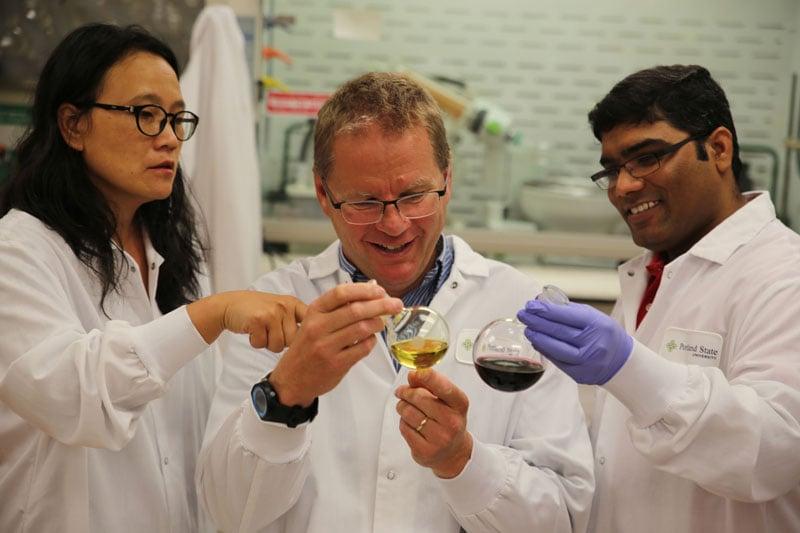 PSU researchers Kevin Reynolds, Jane Kelly and Papireddy Kancharla (Photo: Portland State University)
