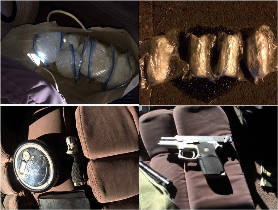 Evidence photos from meth, gun seizures by Portland Police Bureau