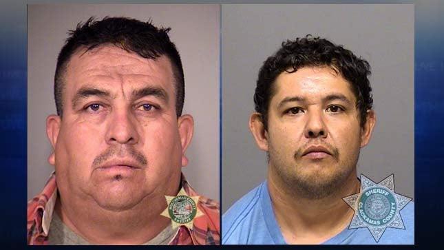 Jesus Felipe Florez-Meza, Jaime Hurtado Sanchez, jail booking photos