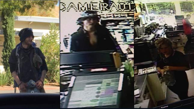 Surveillance photos released by Marin County Sheriff's Office  Read more: http://www.kptv.com/story/30211446/suspects-in-killing-of-man-on-california-trail-arrested-in-portland#ixzz3nwzRwNES