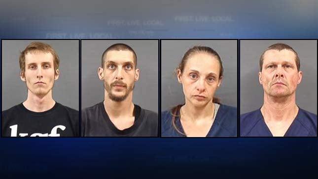 Jail booking photos: Beu Coker, Russell McMillen, Betty Peterson, James Taylor