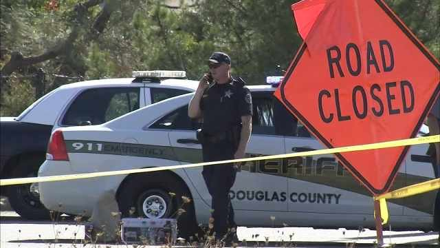 Deputies at the scene of the Umpqua Community College shooting