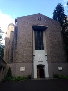 The outside of the Chapel of Mary.