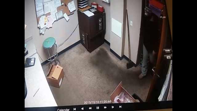 Surveillance photo of suspect (Courtesy: Allen's Crosley Lanes)