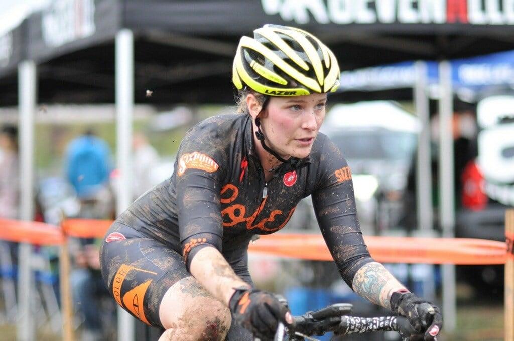Starr Walker racing cyclocross, courtesy of Starr Walker.