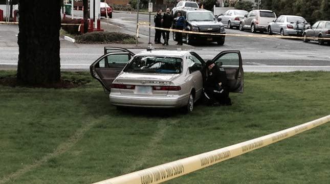 March 25 crash scene in SE Portland