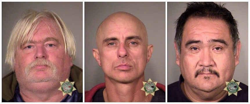 Robert West, Scotty Atkins and Pedro Sanchez Jr. (Photo: Multnomah County Jail)