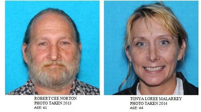 Robert Norton and Tonya Malarkey (Photos: Polk Co. Sheriff's office)