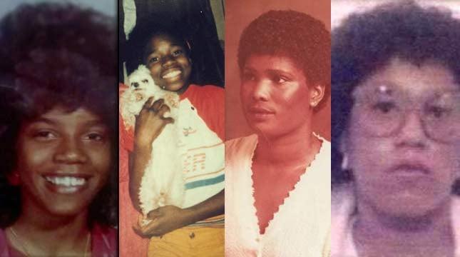 From left: Latanga Watts, Angela Anderson, Tonja Harry, Essie Jackson