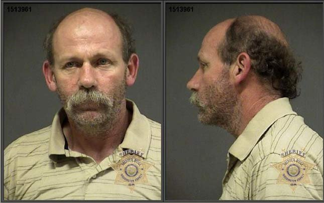 Lewis Whitman, jail booking photo. Christine Miller was cited and not booked in jail.