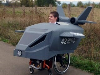 Hunter Powers, in his epic Halloween costume from Magic Wheelchair.