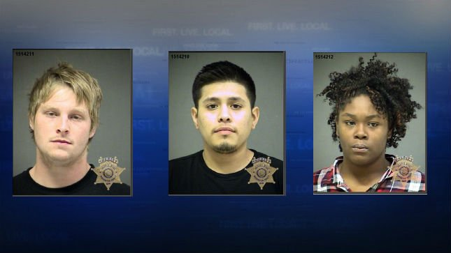 Mugshots (from left to right) Payton Smith, Jorge Perez, Diamond WIlson