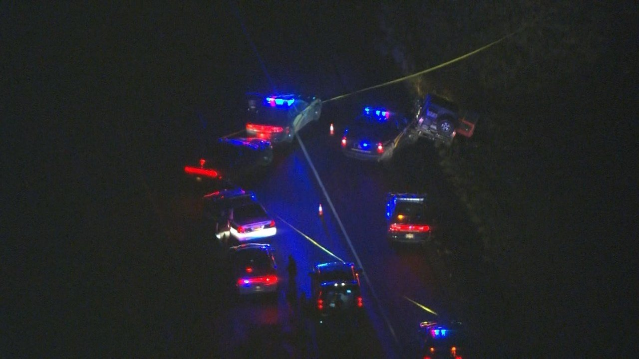 AIR 12 over scene of OIS shooting