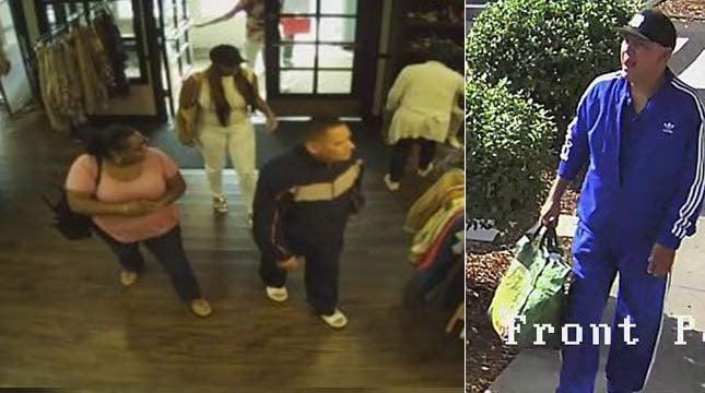 Surveillance images of Lake Oswego jewelry theft suspects