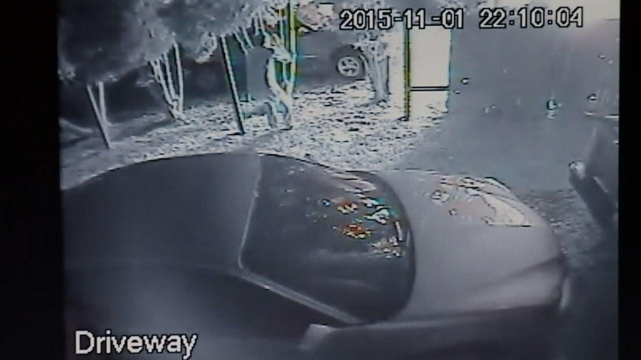 Still from Mark Hedgpeth's surveillance cameras.