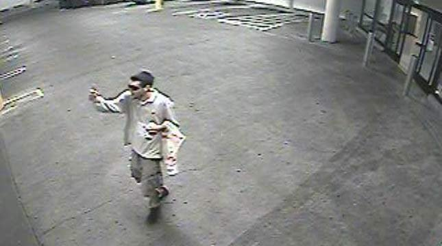 Surveillance image of theft suspect from West Linn PD