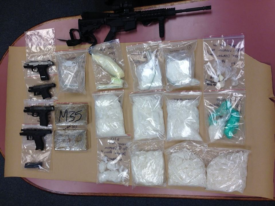 The drugs seized in this bust, courtesy of the Clark County Sheriff's Office.