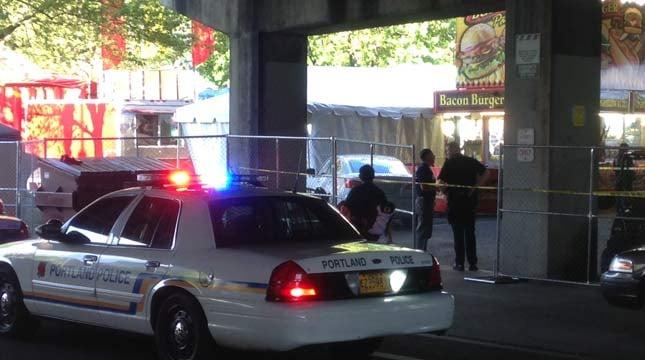 Shooting scene near Cinco de Mayo festival in May.