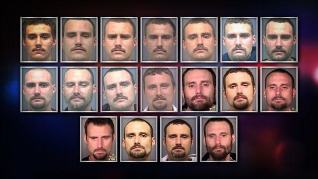 Various mugshots of Ryan Cain