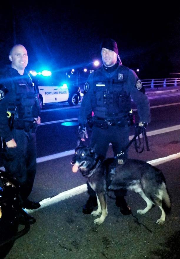 K-9 team Officer Trent Wiest and his partner Hunter (Photo: PPB)