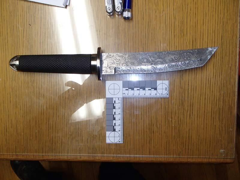 Knife recovered by deputies (Photo: Clackamas County Sheriff's Office)