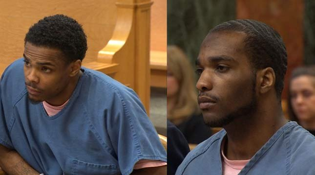 Corey Hill and Antonio Sanders Jr. were sentenced to prison in court Tuesday.