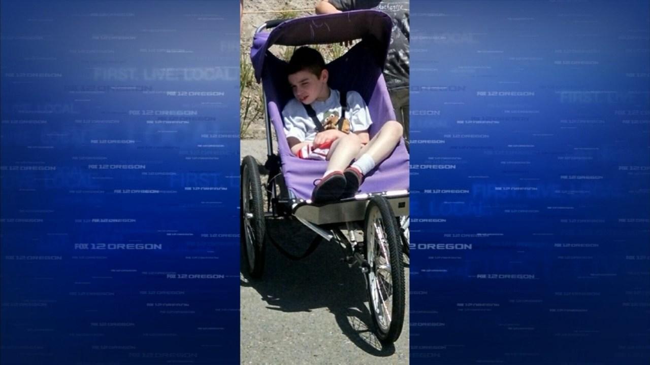 The purple stroller that was stolen.