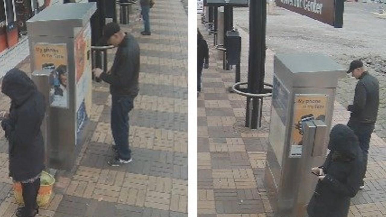 Suspect caught on surveillance camera.