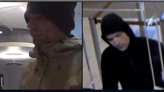 "Surveillance images of the ""Joker Bandit"""