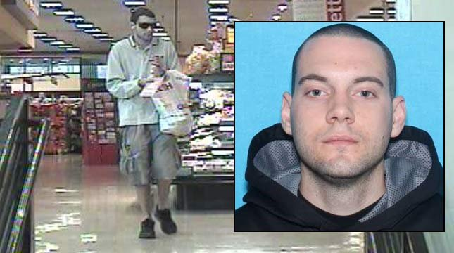 Photos of wanted suspect Vincent Yannello from West Linn PD.
