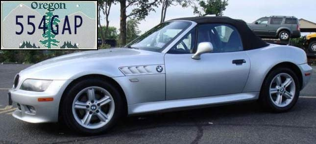 Similar car believed to be driven by wanted suspect Vincent Yannello.
