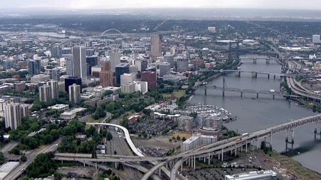 Portland, the largest city in Oregon, came in at number 20 on the list of 'most miserable cities' in the state. (File photo)