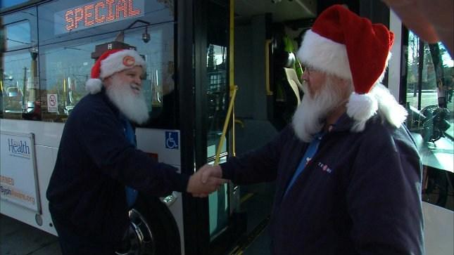 Santa Bob (left), and Santa Mark