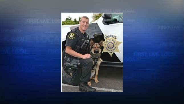 Deputy Akin and K9 Stark (Photo: Washington County Sheriff's Office)