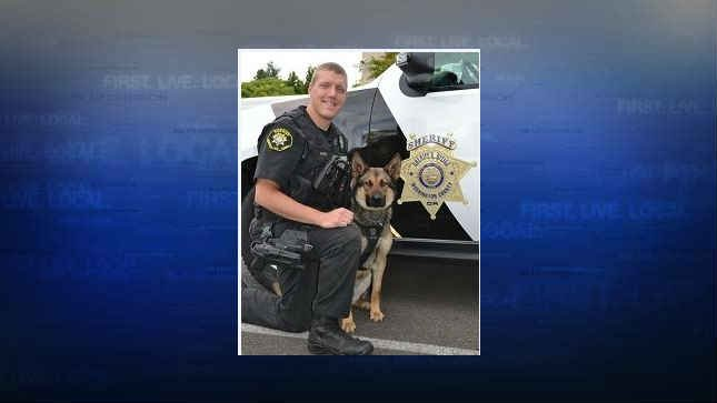 Deputy Akin and K9 Stark (Photo: Washington County Sheriff's Office)