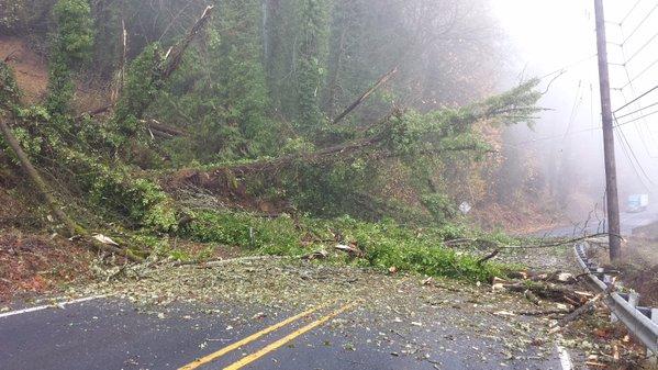 A landslide blocks a highway north of Kelso, WA (Photo: WSDOT)