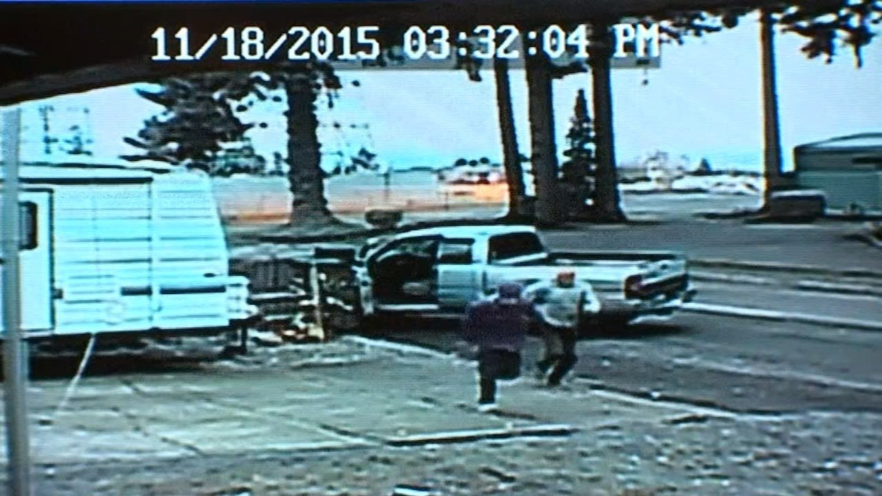 Bob Boltz chasing one of the suspects.