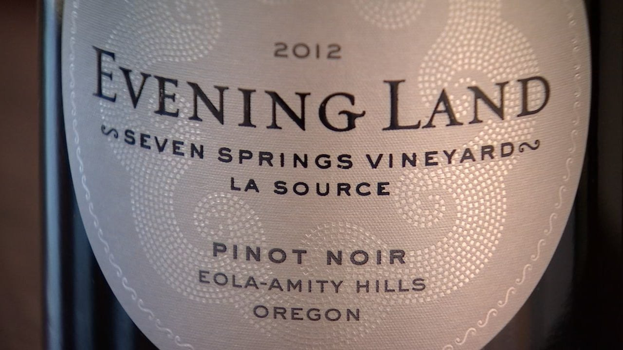 2012 Evening Land Pinot Noir from Eola-Amity Hills Seven Springs Vineyard.