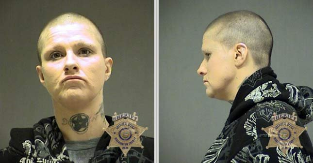 Raven Cutler, Washington County Jail booking photo