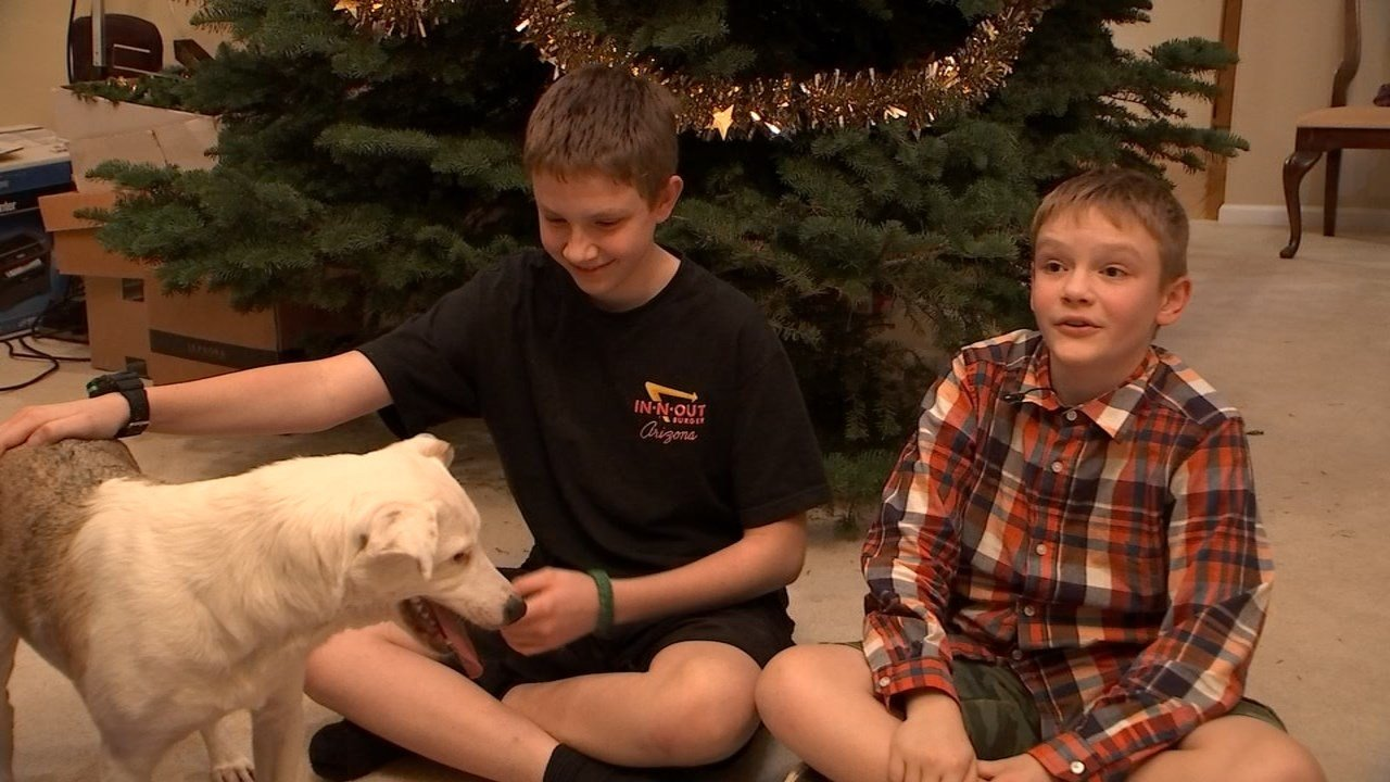 Timothy and Aaron Esau with Pippin.