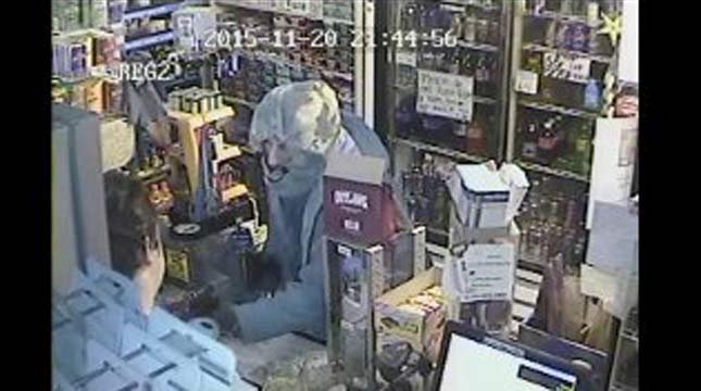 Surveillance image of tobacco store robbery in Jefferson released by the Marion County Sheriff's Office.