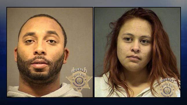 Clinton Cury Jr., Sabrina Acedo, jail booking photos