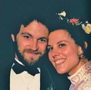 Doug and Rozina Anderson, on their wedding day in 1986, courtesy of the Rousett family.