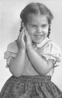 Rozina Rousett (later Anderson) as a little girl, courtesy of the Rousett family.